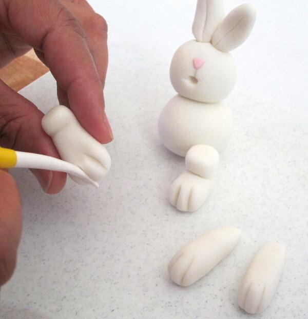 Как из мастики сделать зайца из 885